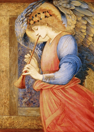 Edward_Burne-Jones_-_An_Angel_Playing_a_Flageolet