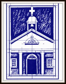 St. Martins Blueprint Style Drawing