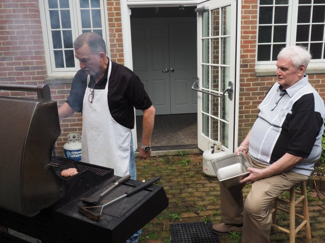 Tim and Tom at the grill